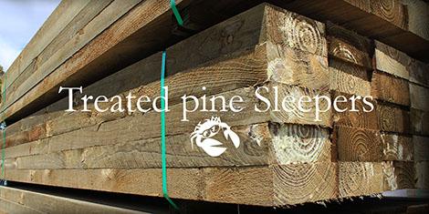 treated pine sleepers